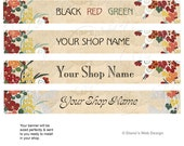 Art Deco Etsy Banner - Pick 1 of 3 Custom Designs - Customized with Your Shop Name
