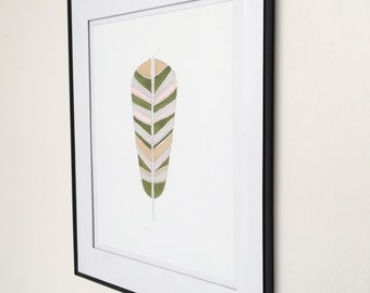 Woodland Feather FRAMED