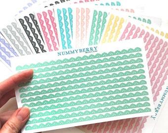 Decorative Border Lolita Lace Sticker Art Sheet