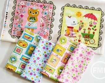 Whimsical Storybook Fat Quarter Bundle and Panel, Tara Lilly, Robert Kaufman Fabrics, 100% Cotton Fabric, AYT-156