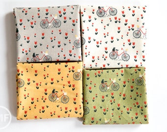 Mon Ami Bicyclette Fat Quarter Bundle, 4 Pieces, BasicGrey, 100% Cotton, Moda Fabrics, 30413