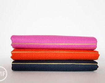 Fruit Dots Gold Stripe Half Yard Bundle, 3 Pieces, Melody Miller, Cotton+Steel, RJR Fabrics, 100% Cotton Fabric, 0031