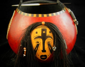 Mask - African Theme  Art Gourd