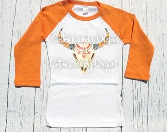 Boho raglan shirt Raglan baseball style tee shirt bohemian tribal