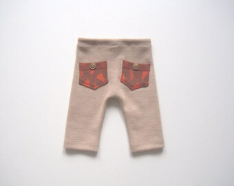 NEW-Newborn Photo Prop-Newborn Pants-Photography Prop Pants-Newborn Boy Pants-Newborn Boy Pants-Beige, Sand, Burn Orange-Baby Boy Pants