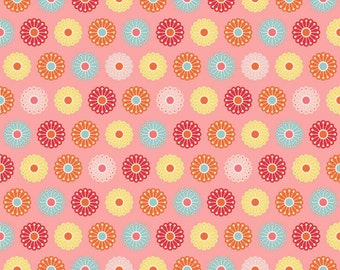CLEARANCE SALE Just Dreamy 2 Collec by Riley Blake Designs, C 4132 Patch Pink, Designer My Mind's Eye for Riley Blake, Sold by Half Yd Amt
