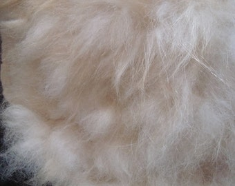 Alpaca Cat Bed Pet Mat Cruelty Free Raw Fleece Felted Rug - White - Supporting Small Farms of The United States