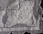 Vintage Handmade  embroider bridal hankie Hanky reserve for