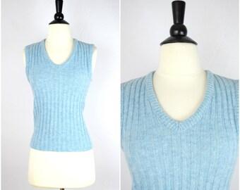 Vintage light blue sweater vest