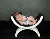 Newborn Gray Floral Print Drawstring Romper baby girl, onesie, bodysuit, jumper, clothing, accessories, photography prop