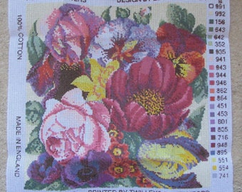 Ehrman Posy Of Flowers Needlepoint/Tapestry Kit Discontinued