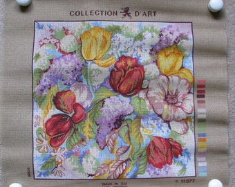 Collection D'Art Floral Needlepoint/Tapestry Canvas