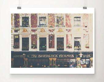 London photograph Sherlock Holmes pub photograph London print London decor travel photography London art Sherlock Holmes art