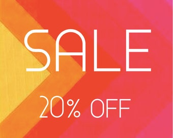 Summer Sale ! 20% Off everything