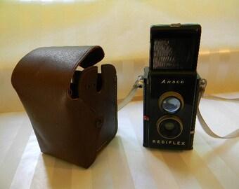 Vintage ANSCO REDIFLEX Camera with Case