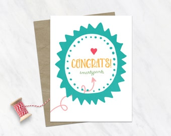 Funny Graduation Day Card / Grad Card / For Graduate / Funny Graduation Card / Encouragement Card / Graduation Congratulations