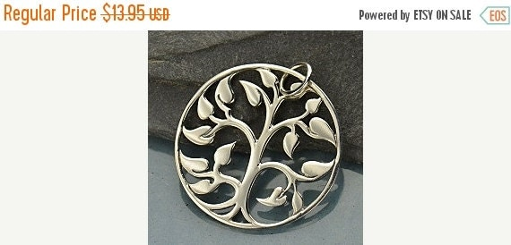 Prepare for Mothers Day Large Silver Plated Bronze Tree of Life Pendant - Mom, Baby, New Mom Gift, Charm
