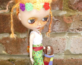 Blythe Hippy 70's Look Outfit (BD10616)