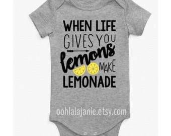 Lemonade Onesie Bodysuit Gray 3-6 months