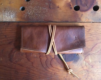 Workhorse Leather Tobacco Pouch & Tobacco Mat * Leather Pipe Pouch * Cigar case * Sorringowl and Sons