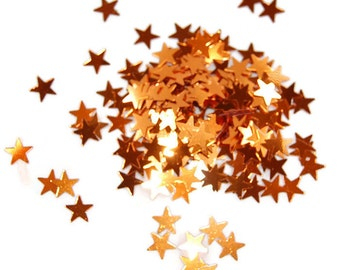 Copper Glitter Medium Stars - 1 Fl. Ounce