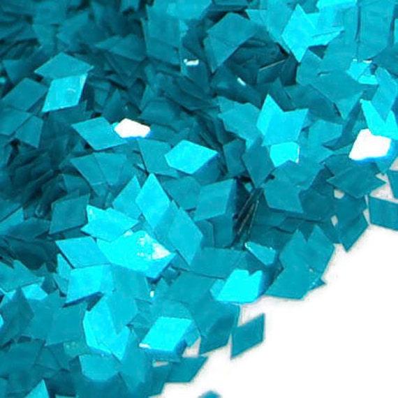 Teal SOLVENT RESISTANT Glitter DIAMONDS - 1 Fl. Ounce for Glitter Nail Art, Glitter Nail Polish and Glitter Crafts