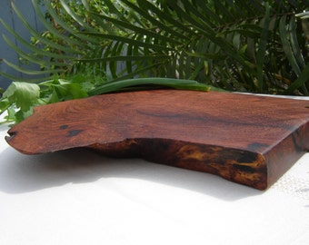 Natural Edge Mesquite Wood Cutting Board / Serving Tray / Home Decor - (Can be personalized)