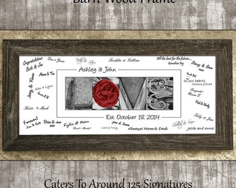 Wedding guest book, wedding guest book alternative, rustic guest book, two free pens, wedding gifts, wedding guest book idea