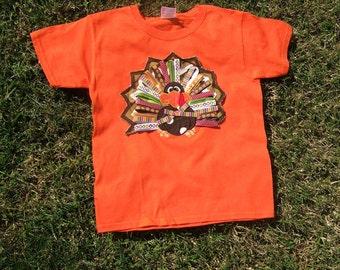 Girls Shirt/ Embroidered T-Shirt/Thanksgiving Shirt/Fall Shirt