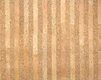 Retro Cork Wallpaper by the Yard 70s Vintage Cork Wallpaper - 1970s Cork Wallpaper made in Japan, Real Cork in Staggard Stripes