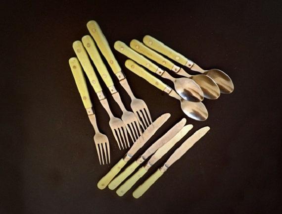 Vintage Silverware Set Flatware Set Spoons Forks Knives