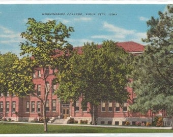 "Iowa, Vintage Postcard, ""Morningside College, Sioux City, Iowa,""  1940s-50s, #777"