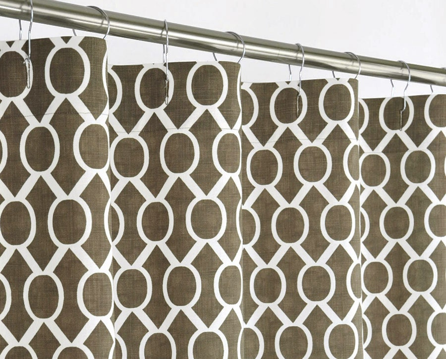 Brown Keyhole Shower Curtain Extra Long 72 Wide X By PondLilly
