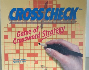 1985 TSR Crosscheck Game of Crossword Strategy