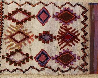 "boucherouite FREE SHIPPING worlwide T25552 200x140 CM (6' 6"" X 4' 7""), boucharouette,  moroccan rugs , berber rugs, morocco carpets"