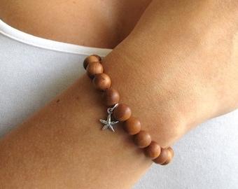 Beaded Bracelet with Starfish Charm