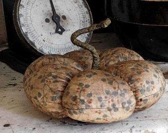 Primitive Pumpkin, Fall Harvest Decor, Cream White Pumpkin