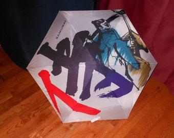 SAMURAI   Little boys   vintage Japanese Umbrella  see dimensions below