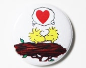 Woodstock Love - 1 inch Button, Pin or Magnet