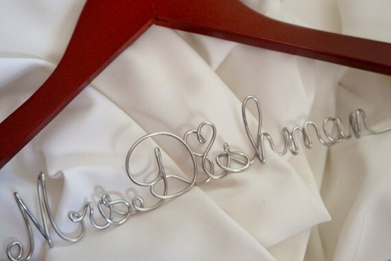 Personalized Bridal Hanger, Sturdy Script, Durable Hangers, Complimentary Gift Wrapping