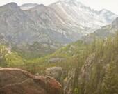 Mountain Photography Print Fine Art Colorado Rocky Mountains Rustic Longs Peak Forest Wilderness Autumn Landscape Photography Print.