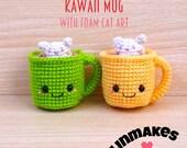 Kawaii Mug  : Amigurumi Pattern in PDF format