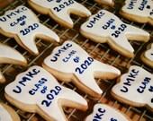Tooth Shaped Sugar Cookies / 1 dozen / freshly baked, birthday, holidays,