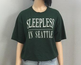 Large Vintage 90s Sleepless in Seattle Tee