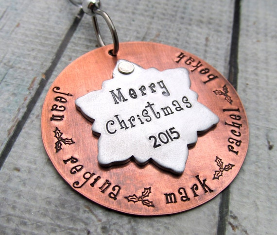 Snowflake ornament christmas personalized