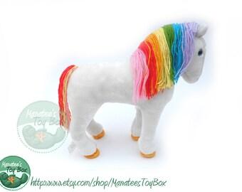 Rainbow Brite's Horse Starlite: 12 inch Plush by Mattel Vintage 1980s Toy