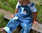 Baby Mickey Mouse Outfit, Baby Mickey 1st Birthday, Baby Mickey Mouse Shirt, Baby Mickey Overalls, Mickey Overalls