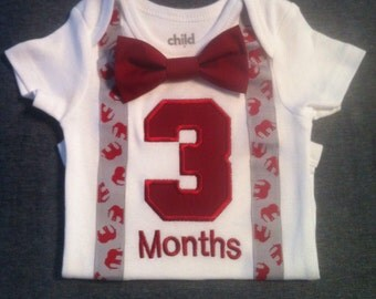 Baby Boys 3 Months Onesie and Bow Tie