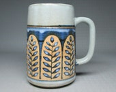 OTAGIRI tall grand mug , not marked . pottery stoneware japan