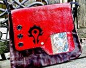 World of Warcraft - Women's handbag - Girlfriend gift - Gamer Gift - Blood Elf - Horde Logo - Geek Girl - Geek Bag - Girlfriend Gift